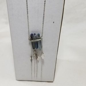 NWT American Eagle Purple Quartz/Silver Necklace